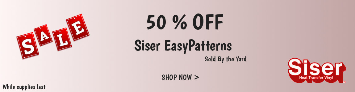 Clearance on Siser EasyPatterns By the Yard