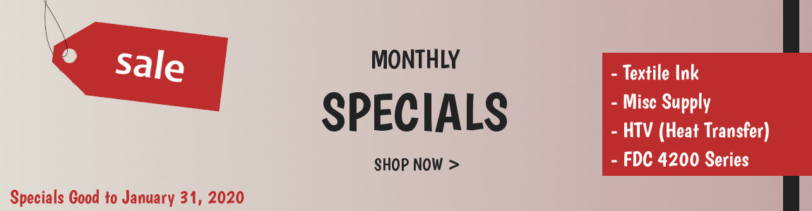 Monthly Specials for January 2020