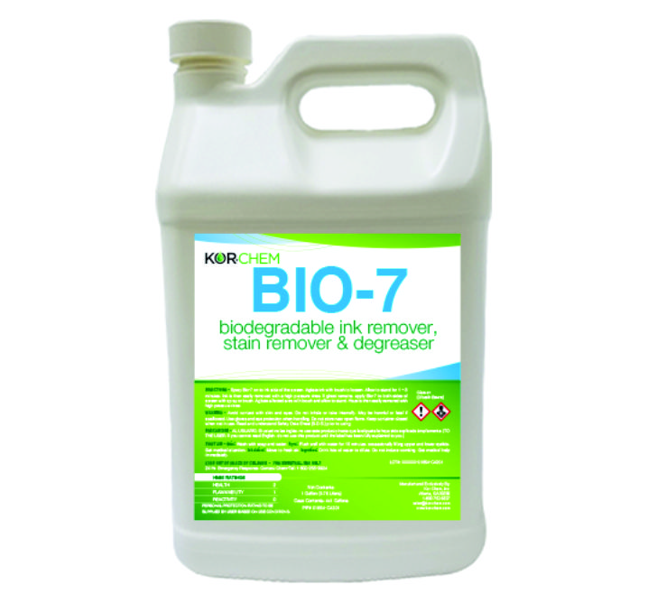 Kor-Chem Bio-7 Ink Remover, Stain Remover & Degrease-Gal - CRE1654-GL