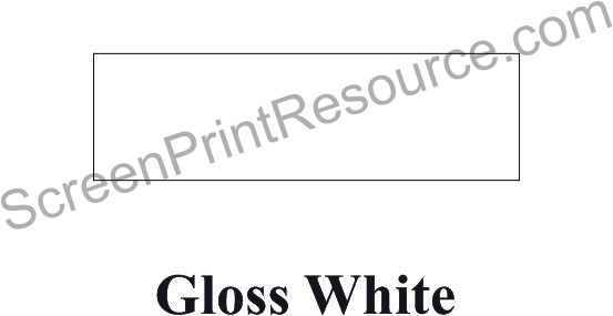 "FDC 002 Gloss White 24"" Sign  Vinyl"