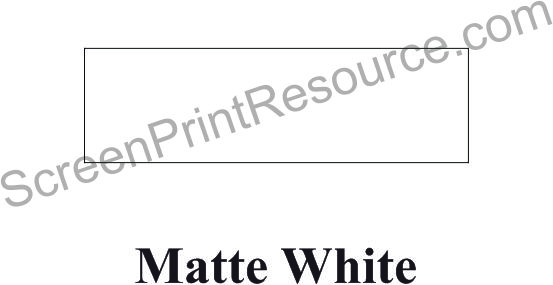 "FDC 049 MATTE White 15"" Sign Vinyl"