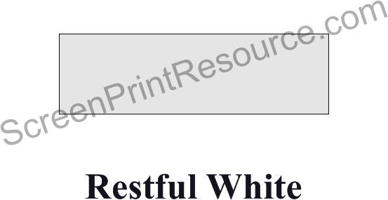 "FDC 202 Restful White 15"" Sign Vinyl"