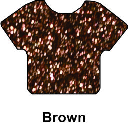 "Siser HTV Vinyl Glitter Brown 20"" Wide"
